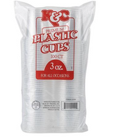 Plastic Cups - 3 oz. - 100 count