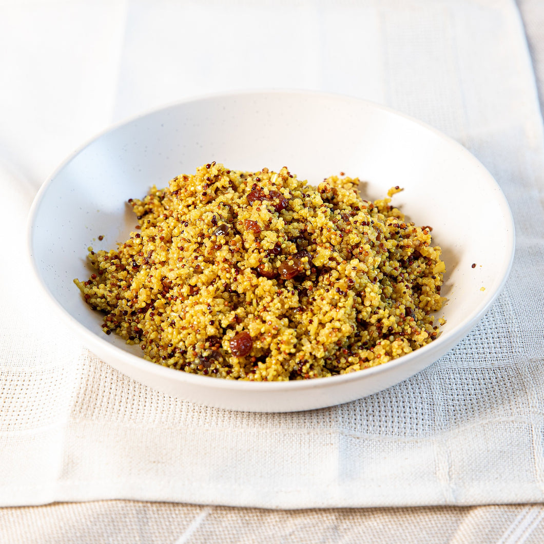 Quinoa curry et canneberges