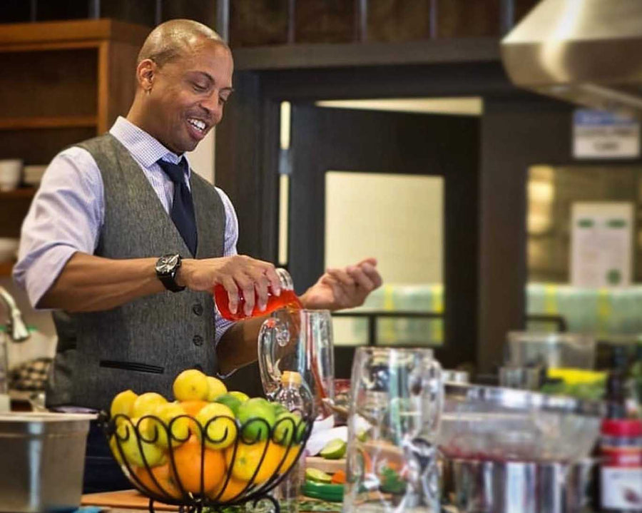 Join Carlton Chamblin for mixing and bartending classes, workshops and popups on how to use drinking vinegars in cooking recipes, mocktails, cocktails and more. Events have been held at local North Georgia businesses and the Northeast Georgia Foodbank