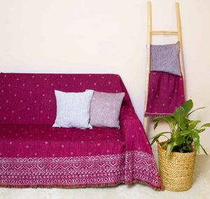 Ριχτάρι Anka 180x180 Bordeaux - Loom To Room