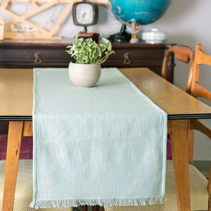RUNNER CALISTO 45X180 AQUA - Loom To Room