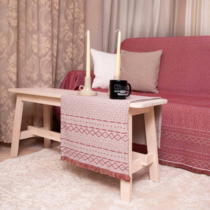 Τραβέρσα Gealic 45x180 Beige/bordeaux - Loom To Room