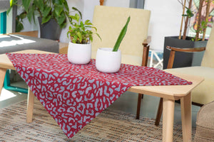 Καρέ Leopardo 85x85 Bordeaux - Loom To Room