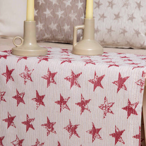 Τραβέρσα Starlight 45x180 Ecru/red - Loom To Room
