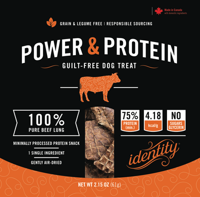 Power & Protein | 100% Pure, Guilt-Free Air-Dried Beef Lung Dog Treats