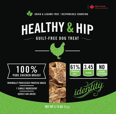 Healthy & Hip | 100% Pure, Guilt-Free Air-Dried Chicken Breast Dog Treats
