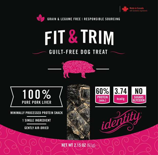 Fit & Trim | 100% Pure, Guilt-Free Air-Dried Pork Liver Dog Treats