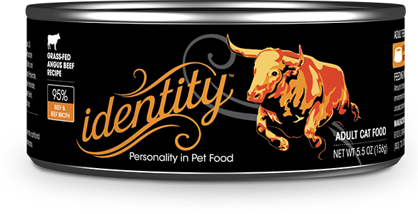Identity 95% Grass-Fed Angus Beef & Beef Broth Pate Cat Food, 5.5 oz can (24 per case)