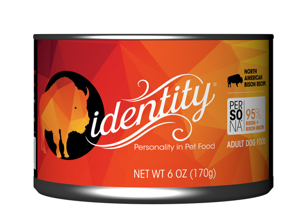 Identity 95% North American Bison & Bison Broth Pate Cat Food, 6 oz can (24 per case)