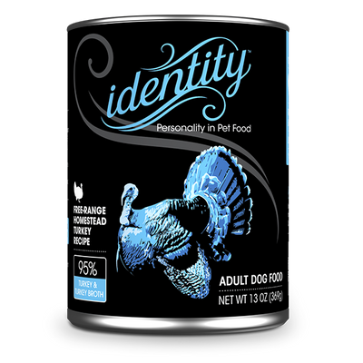 Identity 95% Free-Range Heritage Turkey & Turkey Broth Pate Dog Food, 13 oz can (12 per case)