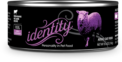 Identity 95% Free-Range New Zealand Lamb & Lamb Broth Pate Cat Food, 5.5 oz can (24 per case)