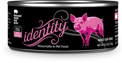 Identity 95% Free-Range Prairie Pork & Pork Broth Pate Cat Food, 5.5 oz can (24 per case)
