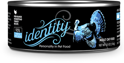 Identity 95% Free-Range Heritage Turkey & Turkey Broth Pate Cat Food, 5.5 oz can (24 per case)