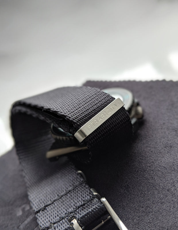 Premium Slim Nato Watch Strap - Black