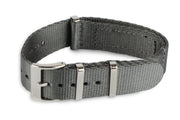 Premium Nato Watch Strap - Silver Grey - Strap City