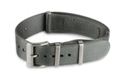 Premium Slim Nato Watch Strap - Silver Grey