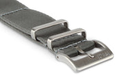 Premium Slim Nato Watch Strap - Silver Grey.