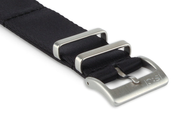 Premium Slim Nato Watch Strap - Black.