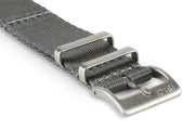 Premium Nato Watch Strap - Silver Grey.