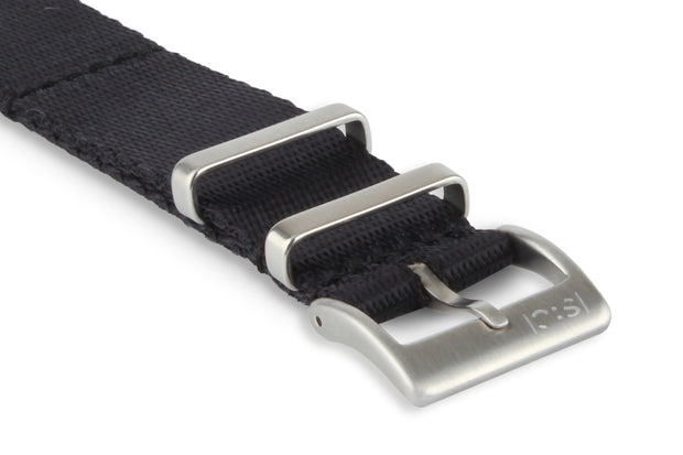 Premium Nato Watch Strap - Black.