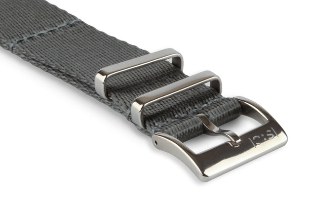 Premium Nato Watch Strap - Silver Grey