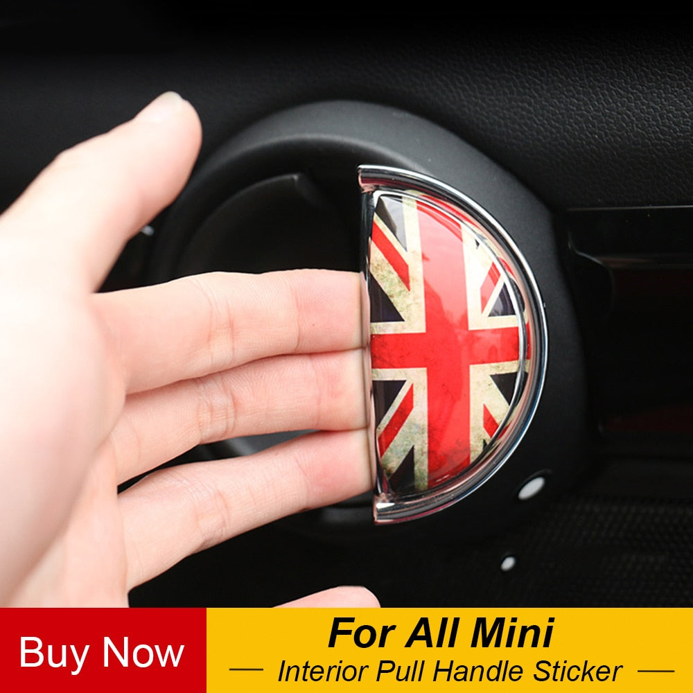 3D Stylish Interior Pull Handle Sticker For MINI