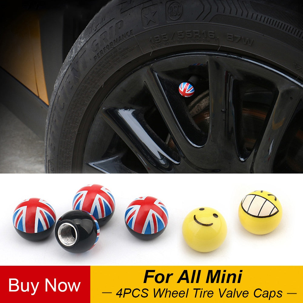 Mini Cooper Tire Valve Caps