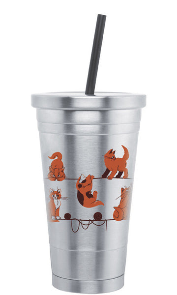 Playful Cats 18oz