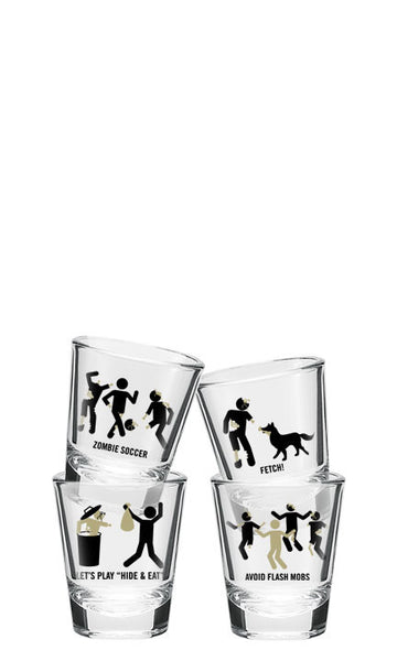 Zombie Shot Glasses (Set of 4) *