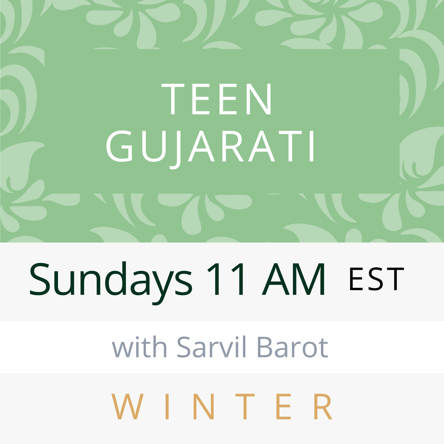 Live Gujarati ADULT Classes (Summer 2020--Session #2)--Gargi Bhakta teacher