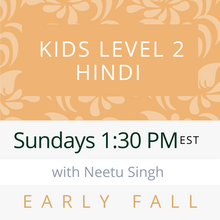 Load image into Gallery viewer, Live Gujarati Classes (Late Fall 2020)--PRESCHOOL Saturdays 12pm EST--Saloni Patel Teacher