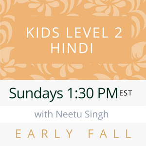 Live Gujarati Classes (Late Fall 2020)--PRESCHOOL Saturdays 12pm EST--Saloni Patel Teacher