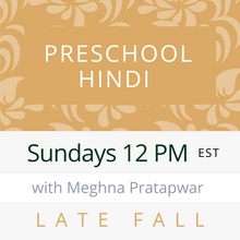 Load image into Gallery viewer, Live Gujarati Classes (Early Fall 2020)--PRE-SCHOOL Sundays 12pm EST--Saloni Patel Teacher