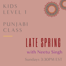 Load image into Gallery viewer, Punjabi KIDS LEVEL 1 with Neetu Singh  (Sundays 3:30pm EST) (Late Spring)