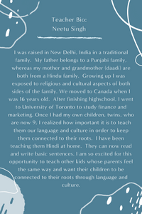 Hindi KIDS LEVEL 1 with Neetu Singh (Sundays 1:30pm EST) (Early Spring)