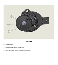Load image into Gallery viewer, Geared BLDC Motor for Electric Scooters - 400W, 48V