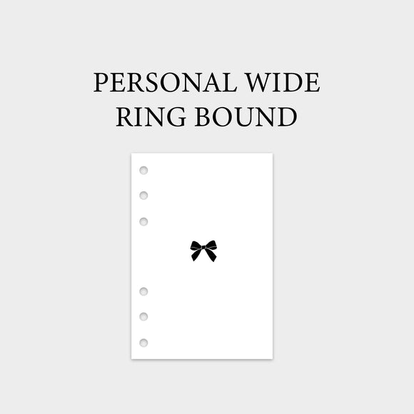 Personal Wide Ring Bound