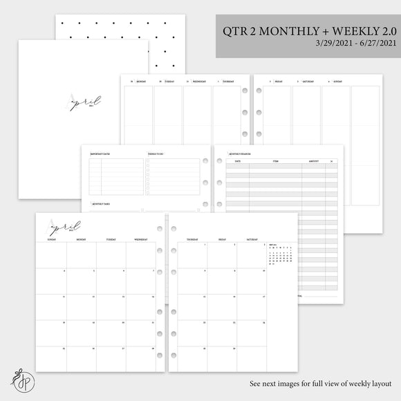 QTR 2 Monthly + Weekly 2.0 - A5 Wide Rings