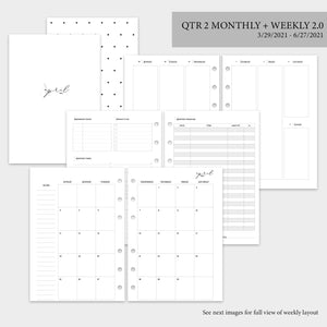 QTR 2 Monthly + Weekly 2.0 - A5 Rings