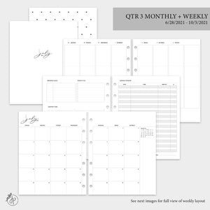 QTR 3 Monthly + Weekly 2.0 - A5 Wide Rings