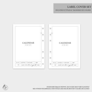 Label Covers - A5 Wide Rings