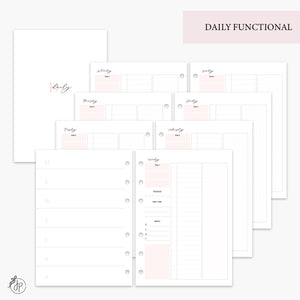 Daily Functional Pink - A5 Rings