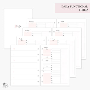 Daily Functional Timed Pink - A5 Rings