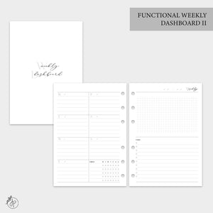 Functional Weekly Dashboard II - A5 Rings