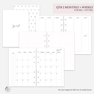 QTR 2 Monthly + Weekly Pink - A5 Rings