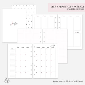 QTR 3 Monthly + Weekly Pink - A5 Rings