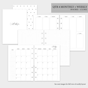 QTR 4 Monthly + Weekly - A5 Rings
