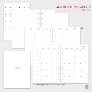 May Monthly + Weekly - A5 Rings