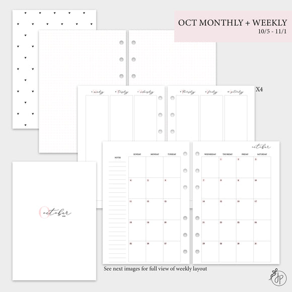 October Monthly + Weekly - A5 Rings