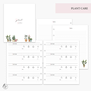Plant Care Pink - A5 Wide Rings